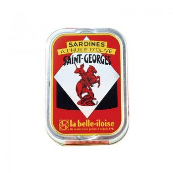 Sardines - Sardines à L'Huile D'Olive Vierge Extra St Georges 1/6 115G -