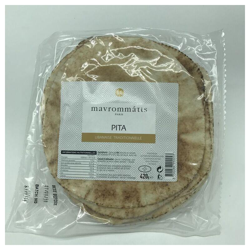 Biscuits apéritifs - Pain Pitta Traditionnel 420G -