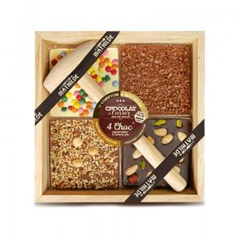 Chocolats fantaisies - Chocolat à Casser Assortiment 3 Chocolats 400G -