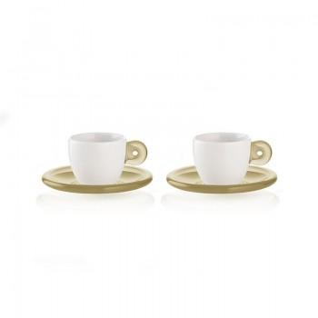 Tasses & mugs - Set de 2 Tasses à Expresso Gocce Sable -
