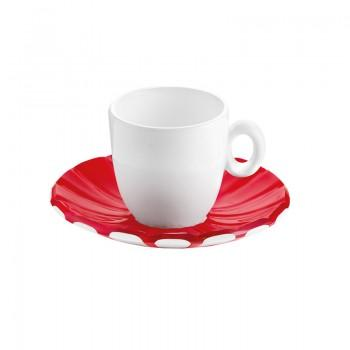 Tasses & mugs - Set de 2 Tasses Espresso Grace Rouge -