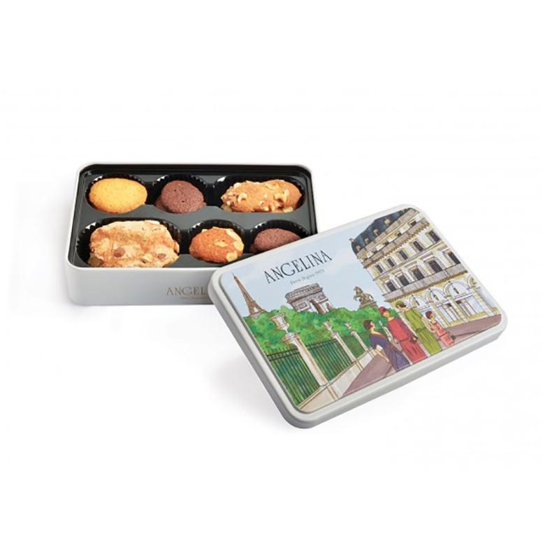 Boîte en fer d'assortiments de biscuits 70G