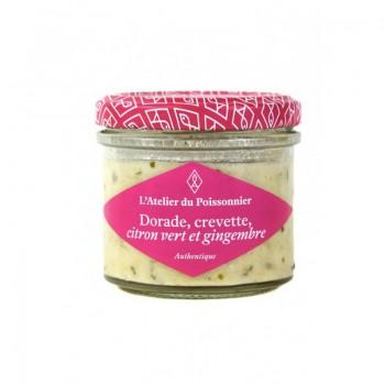 Rillettes Authentiques Dorade Crevette Citron Gingembre 90G