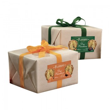 Assortiment Panettone fruits chocolat Sachet 500G Flamigni