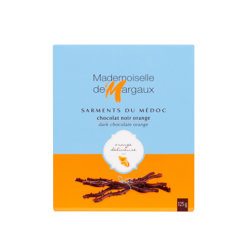 Coffrets & ballotins de chocolats - Sarments du médoc noir orange 125G -